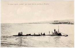 """Cpa Tunisie - Le Sous-marin """"Lutin"""" Qui Vient De Se Perdre à Bizerte - Tunisie"""