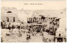 Cpa Tunisie - Tunis - Marché Aux Chevaux - Tunisie