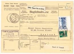 Société Des Nations SDN Tellbrust 10Rp. + 5Fr. Gebirgslandschaft Zu.#29 + 31 Auf Begleitadresse 16.V.29 Genève 10 - Service