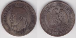 10 CENTIMES NAPOLEON III LAURE 1863 K, TB  (voir Scan) - D. 10 Centimes