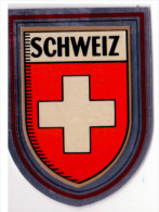 Autocollant Blason Schweiz, Suisse - Obj. 'Souvenir De'