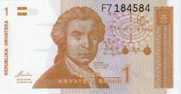 CROATIA 1 DINAR BANKNOTE 1991 PICK NO.16 UNCIRCULATED UNC - Croatia