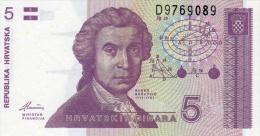 CROATIA 5 DINARA BANKNOTE 1991 PICK NO.17 UNCIRCULATED UNC - Croatie