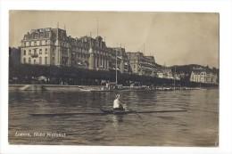 10372 - Luzern Hotel National Ruderer Im Einer Vor Dem Hotel National - LU Lucerne
