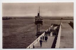ALGER--D�part du Courrier de France (bateau Cie Gle Transatlantique,quai tr�s anim�),cpsm glac�e 14 X 9 n� 226 �d L et Y