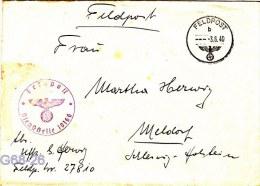 Feldpost WW2: 6. Grosse Kraftwagen-Kolonne Nachschub-Kolonne Abteilung 616 FP 27810 P/m 3.6.1940 - Cover Only (G68-26) - Militaria