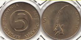 SLOVENIA 5 Tolarjev 1998 KM#6 - Used - Slovenia