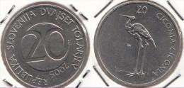 SLOVENIA 20 Tolarjev 2005 KM#51 - Used - Slovenia