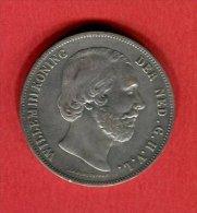 2 1/2 GULDEN (KM 82)  TB+ 50 - 1849-1890: Willem III.
