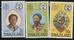 Swaziland 1974 75th Birthday King Sobhuza II MNH - Swaziland (1968-...)