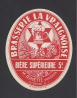Etiquette De Bière Supérieure  -  Brasserie La Vraignoise  - M. Rimette  à  Vraignes (80) - Cerveza