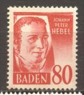 Allemagne Bade Baden  N° 36 Neuf  X X  Cote Y&T  15,00  €uro Au Tiers De Cote - Franse Zone