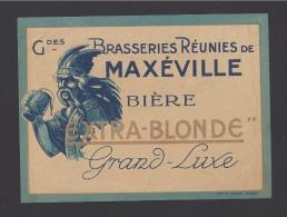 Etiquette De Bière Extra Blonde  -  Brasseries Réunies De Maxéville   (54)  -  Thème Gaulois - Cerveza