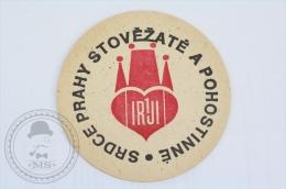 Vintage Advertising Beer Coaster Srdce Prahy Stovezate A Pohostinne - Beer Mats - Sous-bocks
