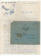 1932 - ENVELOPPE FM (+ CORRESPONDANCES DECOREES) Du 37° REGIMENT D'AVIATION DU MAROC -> EXPEDIEE De ER RICH - AVION - Marcophilie (Lettres)