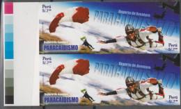 O) 2009 PERU, SKIDIVING, ADVENTURE SPORT, IMPERFORATE MNH - Peru