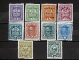 ITALIE - TRENTIN 1919 N° 1/8 * - 10/11 * (TB - Plusieurs Signés Voir Scan) - Occupation 1ère Guerre Mondiale