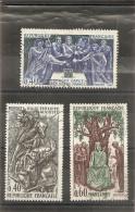 """France 1967  Oblitéré N°  1537 -  1538  -  1539  """" Grands Noms De L'Histoire  """" - Gebraucht"""