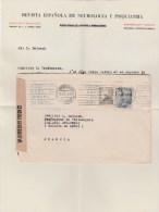 ESPANA MADRID 15/9/41 LETTRE AVEC COURRIER +CENSURA GUBERNATIVA POUR FRANCE SIMIANE COLLONGUE - Marcas De Censura Nacional