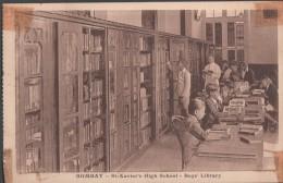 S0021-11 Postal - BOMBAY - St. Xavier's HIGH SCHOOL - BOYS' LIBRARY- - India