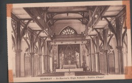 S0021-20 Postal - BOMBAY - St. Xavier's HIGH SCHOOL - PUBLIC CHAPEL - India