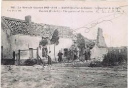 Cpa  La Grande Guerre De 1914-1918 MAROEUIL Le Quartier De La Guerre - France