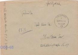 Feldpost WW2: Infanterie-Divisions-Nach Richten-Abteilung 195 (1. Kompagnie) FP 23909 P/m 000 8.8.1942 - Cover Only  (G6 - Militaria