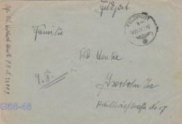 Feldpost WW2: Infanterie-Divisions-Nach Richten-Abteilung 195 (1. Kompagnie) FP 23909 P/m 000 29.7.1942 - Cover Only  (G - Militaria