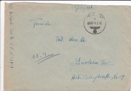 Feldpost WW2: Infanterie-Divisions-Nach Richten-Abteilung 195 (1. Kompagnie) FP 23909 P/m 000 16.3.1942 - Cover Only  (G - Militaria