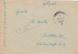 Feldpost WW2: Infanterie-Divisions-Nach Richten-Abteilung 195 (1. Kompagnie) FP 23909 P/m 000 28.2.1942 - Cover Only  (G - Militaria