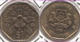 SINGAPORE 1 Dollar 1988   Km#54b - Used - Singapore