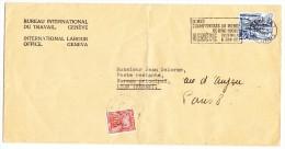 BIT Brief 29.V.1953 Genève Nach Lyon Weitergeleitet Nach Paris Am Ort Strafporto - Officials