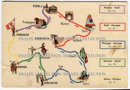 ESSOLUBE 1939  ITINERARIO REGIONE TOSCANA ROMAGNA UMBRIA FIRENZE FORL� RIMINI FANO GUBBIO PERUGIA TERNI ORVIETO SIENA