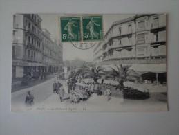 CPA ORAN ALGERIE BOULEVARD SEGUIN CAFE - Oran