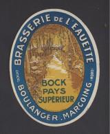 Etiquette De Bière Double Bock  -  Brasserie De L'Eauette  -  Boulanger  à  Marcoing   (59) - Bière