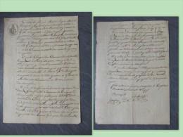 1er EMPIRE 30   Domaine De GARRIGUES (lieu-dit) SALINELLES à Bosanquet (Aymarques) 1813, Autographes ; Ref 486 - Historical Documents
