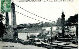 N°40215 -cpa Conflans Fin D'Oise -le Port Aux Guêpes- - Remorqueurs