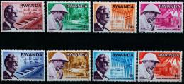 RWANDA 690 à 697 ** MNH Jour Albert SCHWEITZER GABON NOBEL KAYSERSBERG Orgue Bach LEPREUX Nobel - Albert Schweitzer