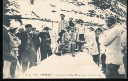 65 --   Cauterets -- Concours De Ski -- Depart Pour Course En Luge - Cauterets