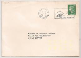 AUTOMATION JAUNE FLUO, Montrouge Ppal, Haut De Seine. SUPERBE. - Postmark Collection (Covers)