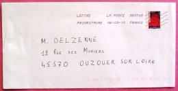 Lettre De 2010 YT Autoadhésif 319 - Lettres & Documents