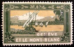 Genève Et Le Mont Blanc - PHOTO RECTO VERSO - Tourisme (Vignettes)