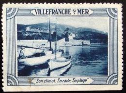 Vignette De Villefranche Sur Mer - PHOTO RECTO VERSO - Tourisme (Vignettes)