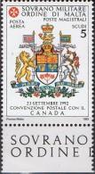 PIA - SMOM - 1993 : Convenzione Postale Con Il Canada - (SAS  P.A.  47/I) - Sovrano Militare Ordine Di Malta