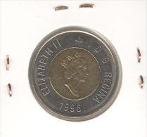 2 Dollars Canada Bi-métallique / Bimetalic 1996 - Canada
