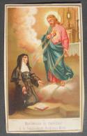 IMAGE PIEUSE Chromo FinXIXème: MANIFESTATION DU SACRE COEUR A LA Bse MARGUERITE MARIE / HOLY CARD / SANTINI - Images Religieuses