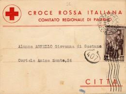 PALERMO CROCE ROSSA ITALIANA COMITATO REGIONALE 1951 - Palermo
