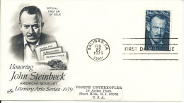 USA FDC 27-2-1979 Honoring John Steinbeck With ArtCraft Cachet - 1971-1980