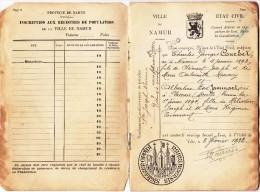 Ancien Carnet De Mariage  (Namur) 1922 - Collections