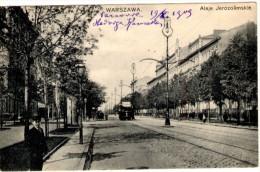 Warszawa - Aleje Jerozolimskie - Tramway - Polen